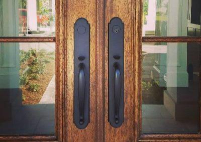 Emtek handleset for multi point locking entry door