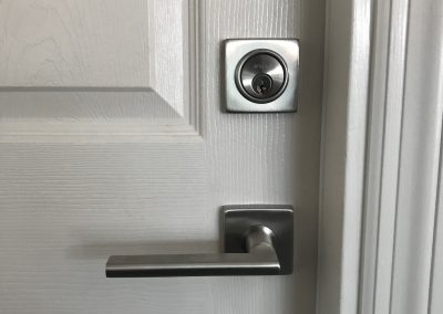 Inox lever and deadbolt lock