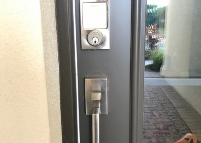 Schlage smart lock and handleset for front entry door